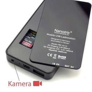 Die Nanotrix Power Bank getarnte Überwachungskamera HD V2.0, Modell 2015