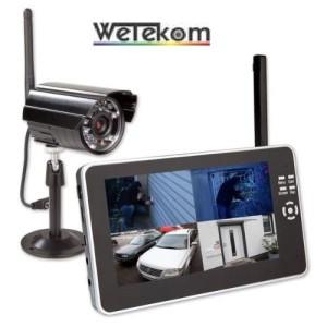 Überwachungskamera mit Monitor Digit. Funk Video Startset mit Zoll Monitor + Kamera - SD Aufnahme
