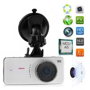 Auto Überwachungskamera PushingBest 2.7 Zoll TFT LCD 170 Grad Weitwinkelobjektiv FHD 1080P Auto Kamera Dashcam DVR Recorder H.264 Camcorder car Video Überwachungskamera mit G-Sensor HDMI AV-Out (weiß)