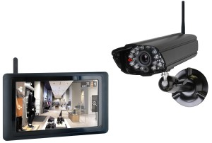 Überwachungskamera mit Aufzeichnung Smartwares digitales Echtzeit-Kamerasystem mit Touchbildschirm, CS89T