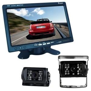 Buyee Car Kit Rückansicht inch TFT LCD Monitor + LED-Rückfahr CCD Rückfahr Überwachungskamera mit Monitor